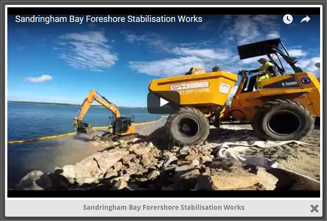Sandringham Bay Forershore Stabilisation Works