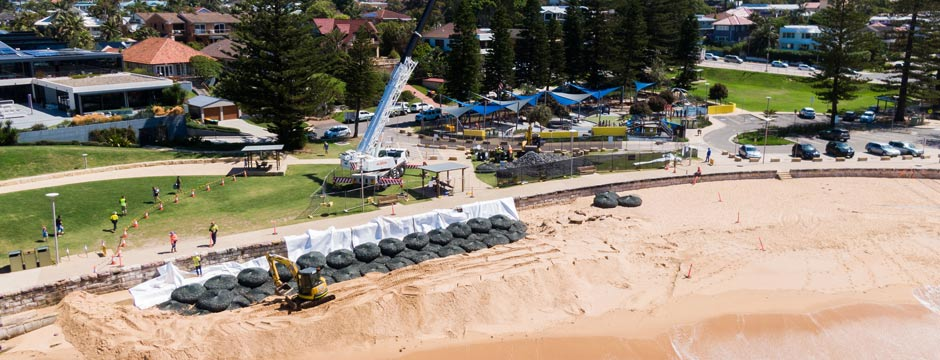 Collaroy Bagwall project